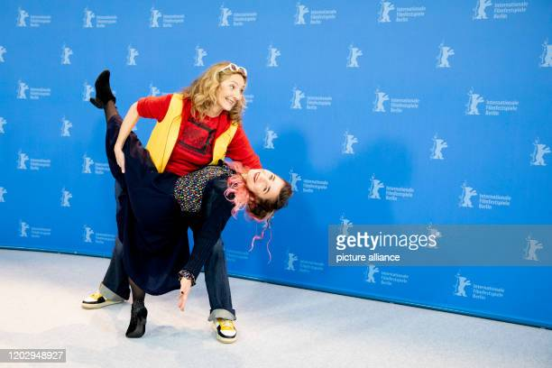 70th Berlinale Photocall Competition Effacer l'historique Actresses Corinne Masiero and Blanche Gardin The International Film Festival takes place...