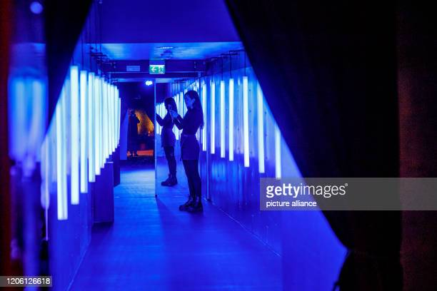 February 2020, Berlin: A visitor photographs herself in one of several different settings in the Selfie Museum The WOW! Gallery. 25 interchangeable...