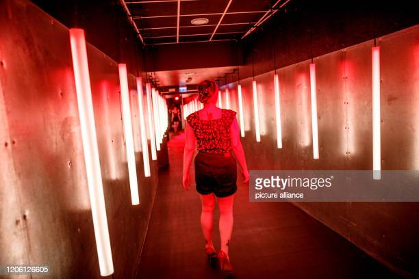 February 2020, Berlin: A visitor walks through one of several different settings in the Selfie Museum The WOW! Gallery. 25 interchangeable photo sets...