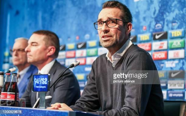February 2020, Berlin: Bundesliga, Hertha BSC press conference: Club president Werner Gegenbauer , investor Lars Windhorst and sports managing...
