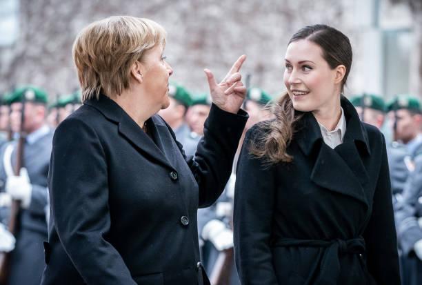DEU: Chancellor Merkel Receives Finnish Prime Minister
