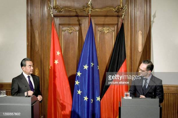 February 2020, Berlin: Heiko Maas , Foreign Minister, and Wang Yi, State Councillor for Foreign Affairs and Foreign Minister of the People's Republic...