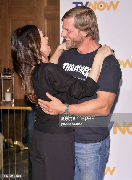 Iris Berben and Henning Baum at the TVNOW Fiction Outlook 2020/21 at Soho House TVNOW is a streaming service and now shows selfproduced fiction in...