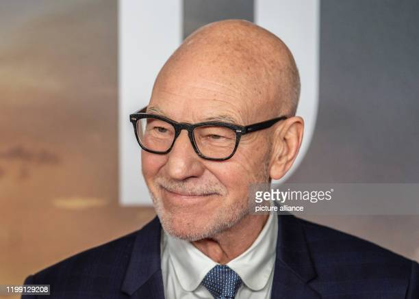 """February 2020, Berlin: Patrick Stewart, actor from Great Britain, comes to the """"Star Trek: Picard"""" event at the Zoo Palast. Photo: Paul Zinken/dpa"""