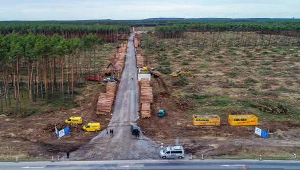 DEU: Construction Site Tesla Plant