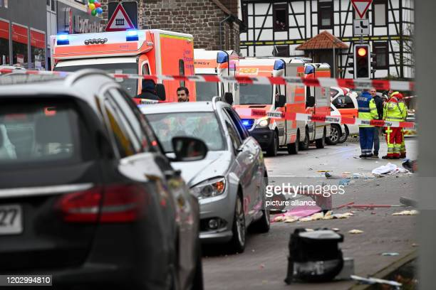 The scene of the accident in Volkmarsen with the car that is said to have crashed into a carnival parade According to initial reports several people...