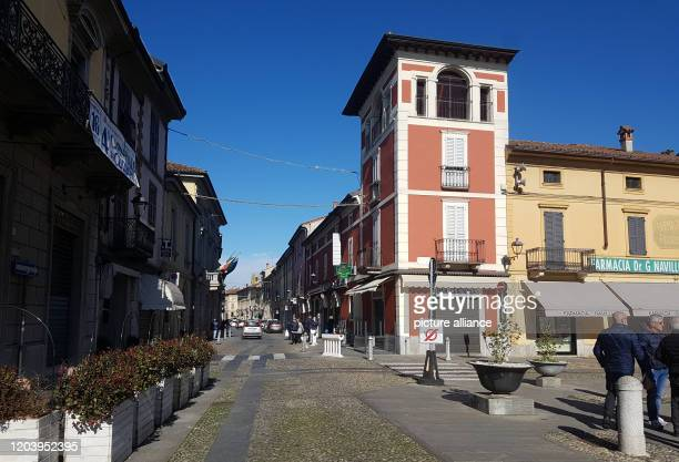 February 2020, Italy, Codogno: All shops except pharmacies and supermarkets are closed in the village. The city of around 15,000 inhabitants is one...