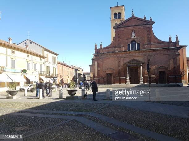 February 2020, Italy, Codogno: All shops except pharmacies and supermarkets are closed in the village. The city of around 15 000 inhabitants is one...