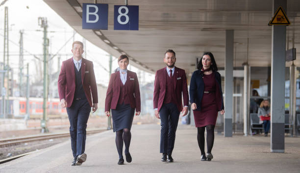 DEU: New Uniforms For German Railway Employees