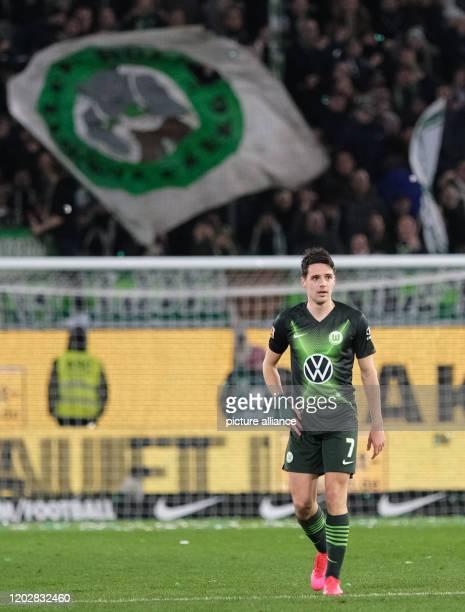 23 February 2020 Lower Saxony Wolfsburg Football Bundesliga VfL Wolfsburg FSV Mainz 05 23rd matchday in the Volkswagen Arena Wolfsburg's Josip...