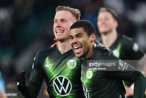23 February 2020 Lower Saxony Wolfsburg Football Bundesliga VfL Wolfsburg FSV Mainz 05 23rd matchday in the Volkswagen Arena Wolfsburg's Yannick...