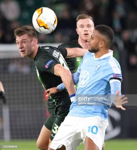 February 2020, Lower Saxony, Wolfsburg: Football: Europa League, VfL Wolfsburg - Malmö FF, knockout round, intermediate round, first leg in the...