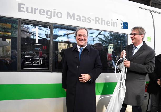 DEU: ICE Train Christening In Aachen By Armin Laschet