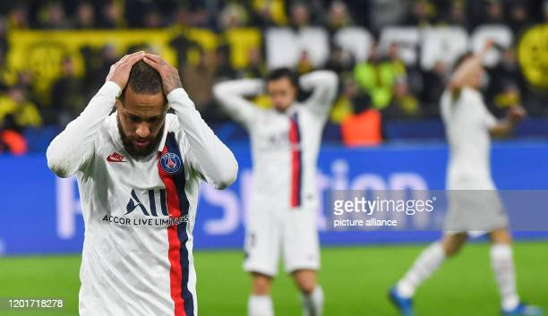 18 February 2020 North RhineWestphalia Dortmund Football Champions League Borussia Dortmund Paris SaintGermain knockout rounds last sixteen first...