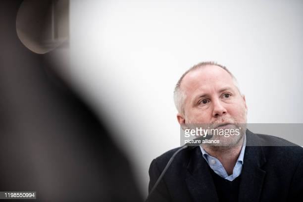 February 2020, North Rhine-Westphalia, Duesseldorf: Felix Krämer, General Director of the Kunsthaus, speaks during the press conference. Five months...