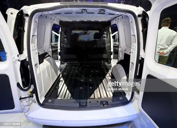 20 February 2020 North RhineWestphalia Duesseldorf The photo shows the loading area of the new VW Caddy 5 Cargo The premiere of the new VW Caddy 5...