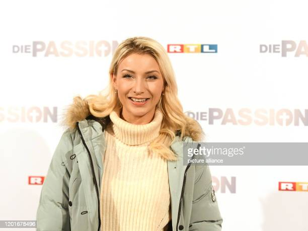 18 February 2020 North RhineWestphalia Essen AnnaCarina Woitschack singer after the press conference for the RTL music live event Die Passion RTL...