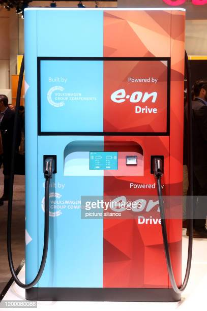 11 February 2020 North RhineWestphalia Essen This new fastcharging electric filling station with builtin rechargeable battery was presented by...