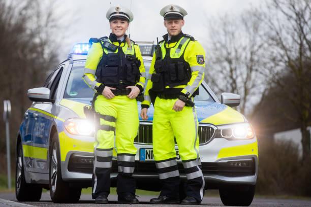 DEU: New Uniforms For German Highway Patrol