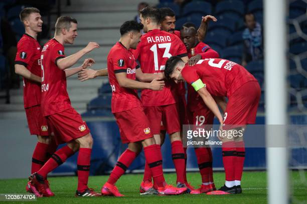 Football Europa League FC Porto Bayer Leverkusen knockout round intermediate round second leg at the Estadio do Dragao Leverkusen's Daley Sinkgraven...