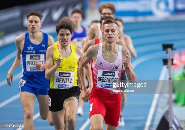 Athletics/hall German championship 1500 m men Karl Bebendorf in the final over 1500 m Photo Jens Büttner/dpaZentralbild/ZB