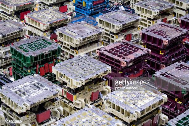 February 2020, Saxony, Zwickau: View into the press plant of Volkswagen Sachsen with parts for the new VW ID.3. At the beginning of November 2019,...