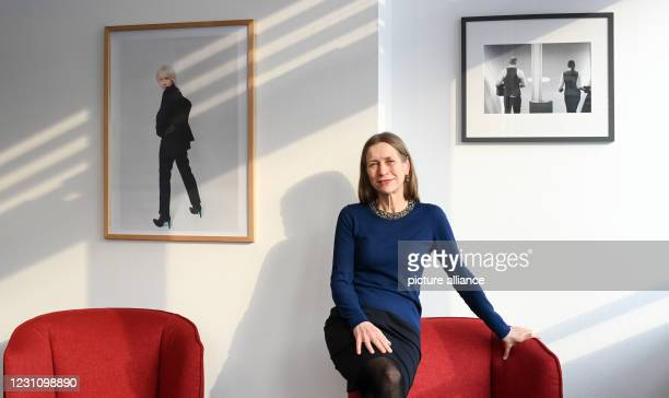 February 2021, Berlin: Mariette Rissenbeek, managing director of the Berlinale, at a press event in her Berlinale office at Potsdamer Platz. The...
