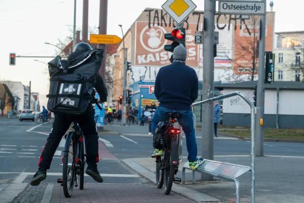 DEU: Berlin - Waiting Footboards For Cyclists