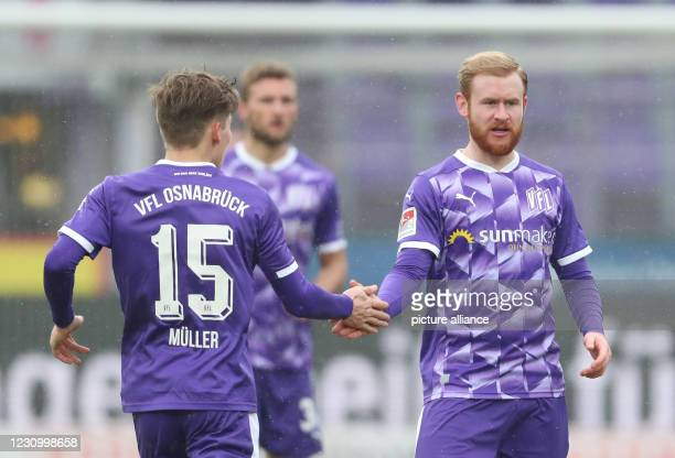February 2021, Lower Saxony, Osnabrück: Football: 2nd Bundesliga, VfL Osnabrück - VfL Bochum, matchday 20 at Stadion an der Bremer Brücke....