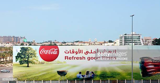 February 21 2012 Billboard advertising for CocaCola in Dubai