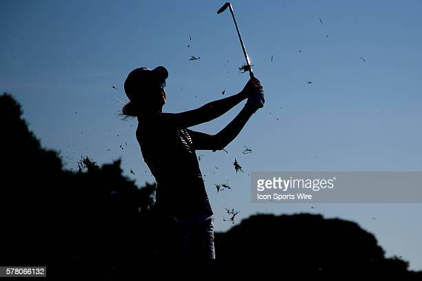 Lisa McCloskey plays an iron shot during the 3rd round of the LPGA Australian Womens Golf open played at Royal Melbourne Golf Club Victoria Australia