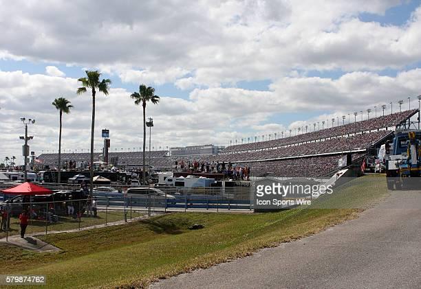 A sold out crowd for the Daytona 500 at Daytona International Speedway Daytona Beach Florida