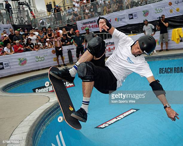 Tony Hawk in action during the BowlARama Bondi Beach annual skate competition at Bondi Skate Park in NSW Australia Tony Hawk successfully retained...