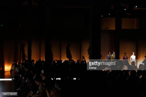 February 21: Atmosphere during the Tod's fashion show as part of Milan Fashion Week Fall/Winter 2020-2021 on February 21, 2020 in Milan, Italy.