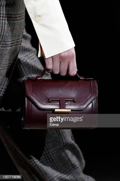 February 21: Bag detail during the Tod's fashion show as part of Milan Fashion Week Fall/Winter 2020-2021 on February 21, 2020 in Milan, Italy.