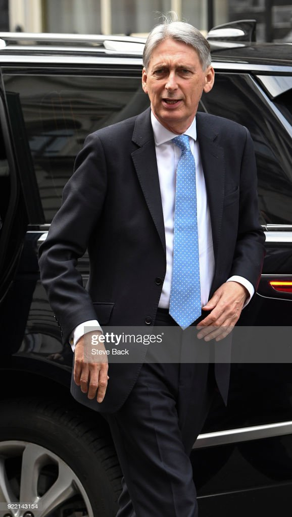 Britain's Chancellor of the Exchequer Philip Hammond : News Photo