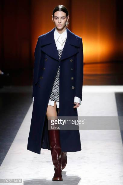 February 21: Model Vittoria Ceretti walks the runway during the Tod's fashion show as part of Milan Fashion Week Fall/Winter 2020-2021 on February...
