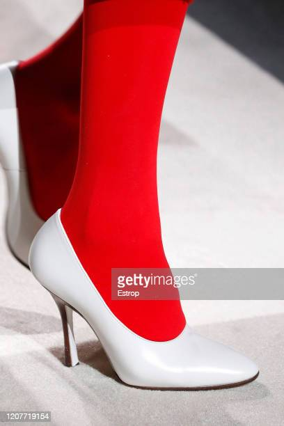 February 21: Shoe detail during the Tod's fashion show as part of Milan Fashion Week Fall/Winter 2020-2021 on February 21, 2020 in Milan, Italy.