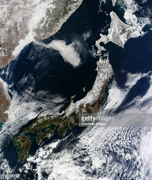 February 22, 2011 - Satellite view of Japan.