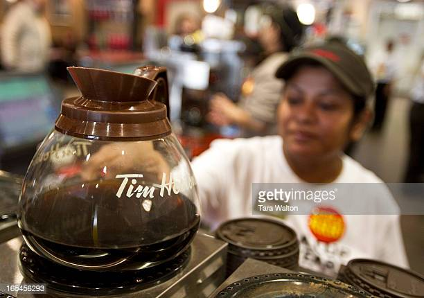 February 22 2011TIM HORTONSStock photos from inside Tim Hortons Coffee Shop at 56 Wellesley Street in Toronto Tim Hortons launches its 25th annual...