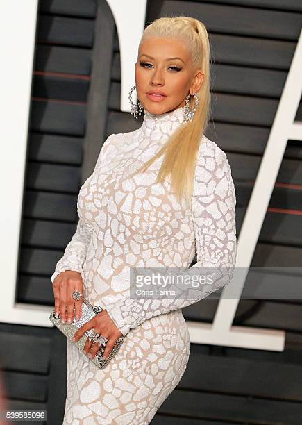 February 22 Beverly Hills Ca Recording artist Christina Aguilera arrives at the 2015 Vanity Fair post Oscar party in Beverly Hills Ca Christopher...