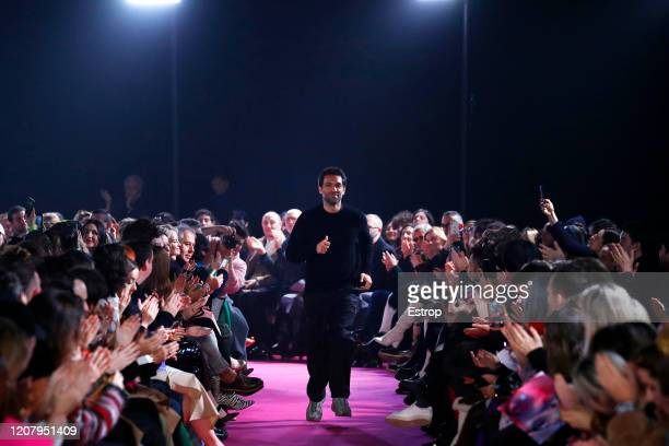 February 22: Fashion designer Massimo Giorgetti during the MSGM fashion show as part of Milan Fashion Week Fall/Winter 2020-2021 on February 22, 2020...