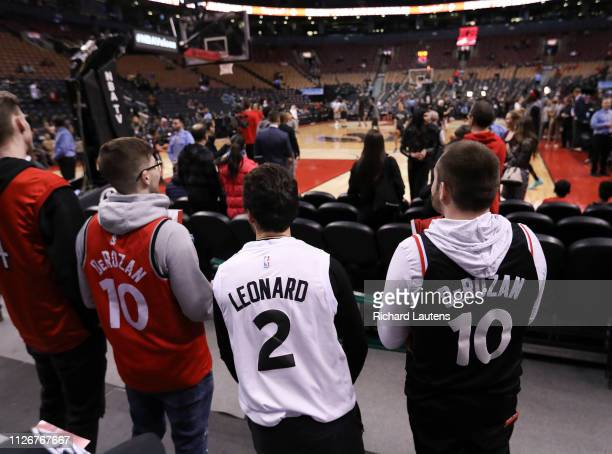 February 22 Prior to the start of the game, DeMar Derozan warms up in his old arena. The Toronto Raptors took on the San Antonio Spurs in NBA...