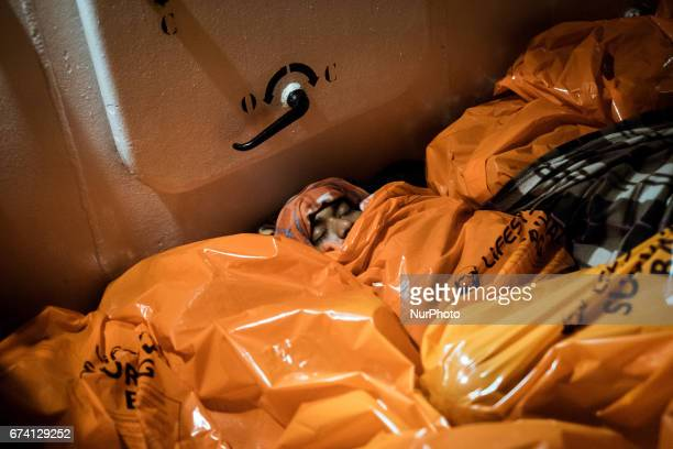 February 22nd 2017 Migrants squeezed togheter sleep on board the Aquarius squeezed togheter Due to the low winter temperatures the Aquarius crew...