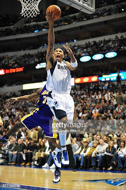 Dallas Mavericks forward Shawn Marion during the NBA game between the Los Angeles Lakers and the Dallas Mavericks at the American Airlines Center in...