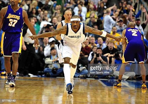 Dallas Mavericks guard Jason Terry during the NBA game between the Los Angeles Lakers and the Dallas Mavericks at the American Airlines Center in...