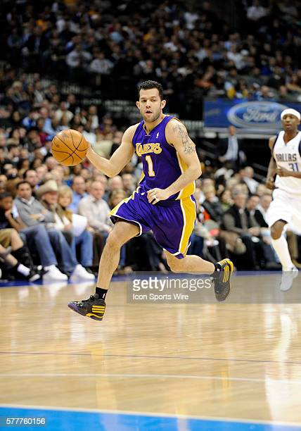 Los Angeles Lakers guard Jordan Farmar takes off on a fast break and had 5 points onthe night during an NBA game between the Los Angeles Lakers and...
