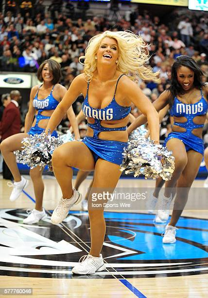 Mavs dancer during the NBA game between the Los Angeles Lakers and the Dallas Mavericks at the American Airlines Center in Dallas TX Mavs won 10196