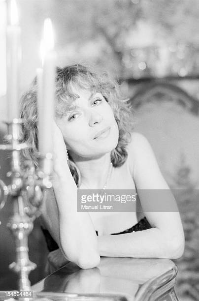 February 24 portrait of the actress Elisabeth Depardieu, at home, at his home in Bougival.