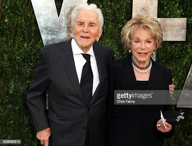 February 24 West HollywoodCa Actor Kirk Douglas and wife Anne arrive at the 2013 Vanity Fair Academy Awards Oscars® Party at Sunset Tower Hotel in...
